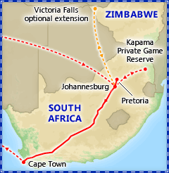 Incredible South Africa with Rovos Luxury Train tour itinerary