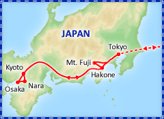 Japan Panorama tour itinerary