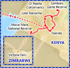 Kenya Wildlife Safari tour itinerary