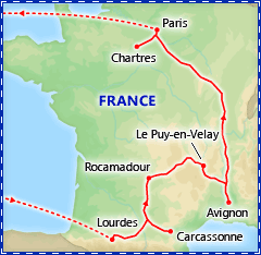 La France Catholique tour itinerary