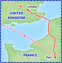 London and Paris Getaway by Rail itinerary