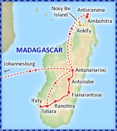 Magical Madagascar tour itinerary