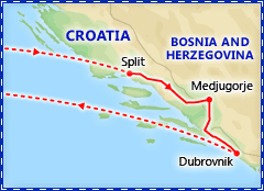 Medjugorje & Adriatic tour itinerary