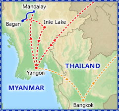 Mystical Myanmar tour itinerary