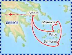 Aegean Greek Island Hopper itinerary