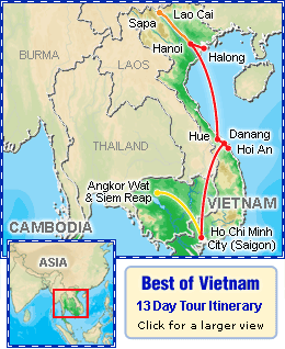 Best of Vietnam 13 day tour itinerary