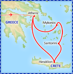 Cyclades Greek Island Hopper tour itinerary