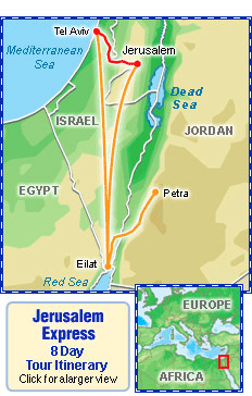 jerusalem express map