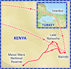 Kenya Safari Express tour itinerary
