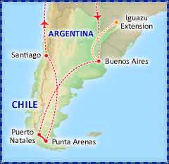 Patagonian Explorer by Land tour itinerary
