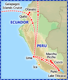 Peru, Ecuador & the Galapagos tour itinerary