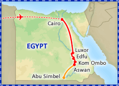 Treasures of Egypt tour itinerary
