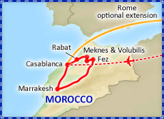 Treasures of Morocco tour itinerary