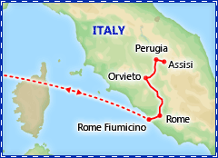 Rome & Assisi tour itinerary