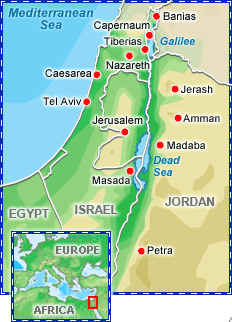 Biblical Encounters Study Tour to Israel itinerary map