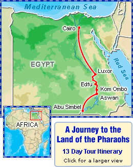 A Journey to the Land of the Pharaohs 13 Day Tour Itinerary