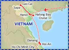 Vietnam Volun-Tour tour itinerary