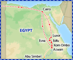 A Taste of Egypt & Nile Cruise tour itinerary