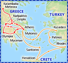 A Taste of Greece tour itinerary