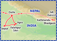 A Taste of India & Nepal tour itinerary