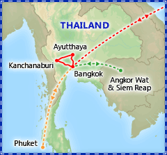 Taste of Thailand tour itinerary map