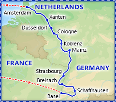 Treasures of the Rhine River Cruise itinerary