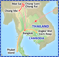 Treasures of Thailand tour itinerary