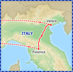 Venice and Florence Getaway by Rail itinerary