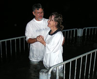 Baptism at Yardenit