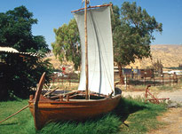 Full-scale model of the Galilee Boat