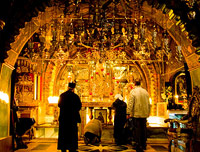 The Greek Altar of Calvary, Church of the Holy Sepulchre