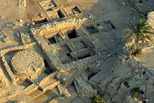 Aerial view of the excavations at Megiddo  Photo by The Megiddo Expedition
