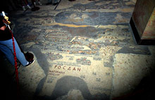 The Mosaic map in Madaba