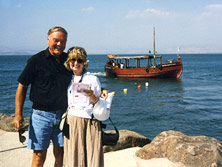 Linda and Ed Smith at the Sea of Galilee