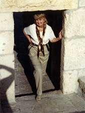 Linda Smith, Tour Host at the Armenian Convent, Jerusalem