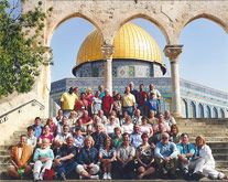McDonald tour group at the Temple Mount