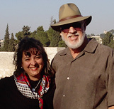 Rance and Brandy at the Golden Gate in Jerusalem