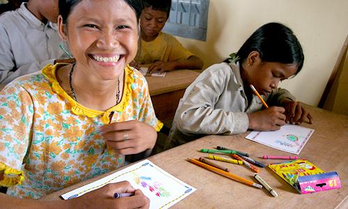 Schoolchildren in Cambodia