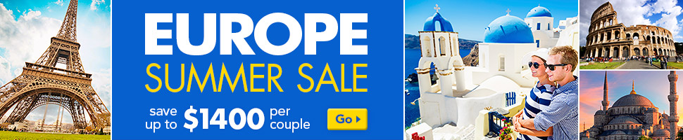 Europe Summer Sale: save up to $1400 per couple