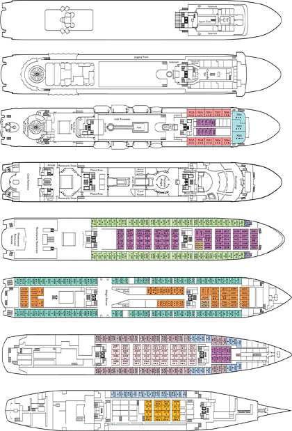 Costa Allegra deck plans