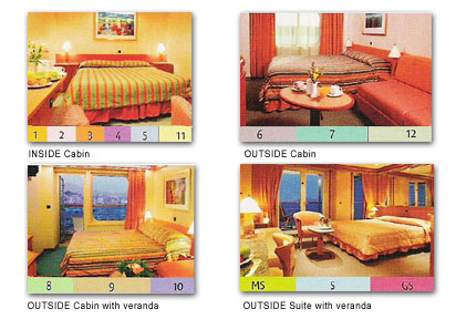 Costa Concordia Cabin photos