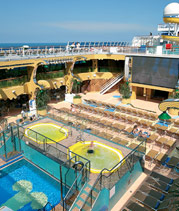Costa Concordia deck, pool & jacuzzis