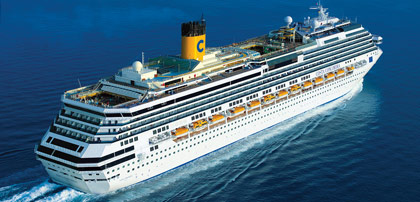 Costa Concordia (sister ship to Pacifica)*