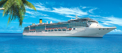 The new Costa Mediterranea ship in the Caribbean