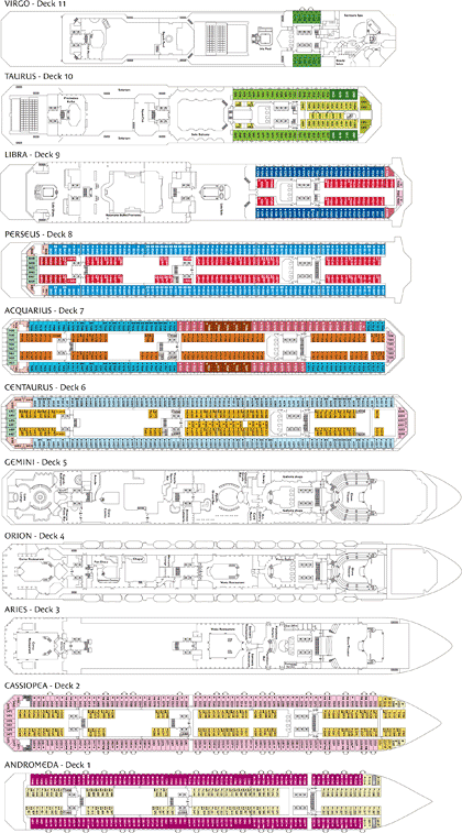 Costa Serena deck plans (click to drag)