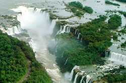 Aerial view of Devil's Mouth, Iguazu Falls